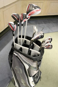 TAYLORMADE AEROBURNER IRONS/WOODS/BAG (LEFT HAND)