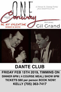 Conway Twitty Tribute Valentine's Dinner and Show