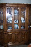 Vintage 2 piece Display Cabinet with Interior Lights