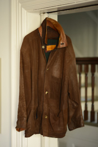 Leather Timberland Coat - Men's XL