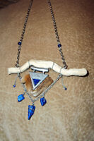SEA PSALM CREATIONS, handmade driftwood art necklaces