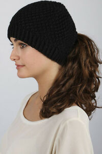 Loom Knitted Ponytail/Messy Bun Hats