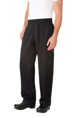 Chef Works Baggy Black Pants Elastic Waist With Zipper Medium