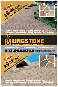 INTERLOCKING  ▀▄ SPECIAL OFFER $8.49UP ▀▄ PATIO Driveway PORCH