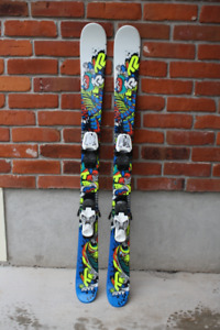Skis..Boy's K2 JUVY 119 cm twin tip skis (120)