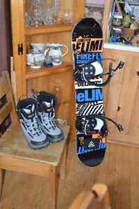 120 firefly snowboard with size 5 boots SOLD