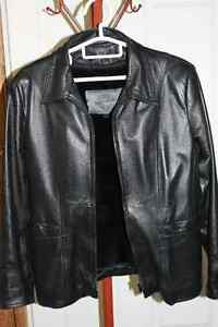 Women's Black Leather Coat by Passport