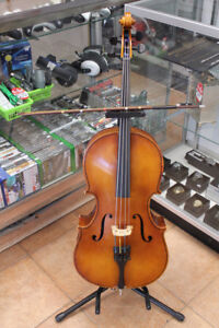 1/2 size Hungarian Cello with bow and soft case