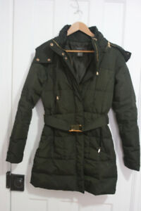 Womens down and feather parka winter jacket coat OBO