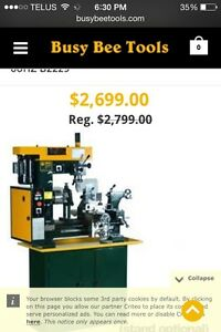 Craftex B2229 lathe and plain