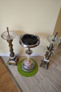 3 Vintage ASHTRAYS * Marble and Brass style ** SEE EACH PRICE