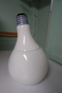 Lightbulb cookie jar