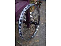 Custom BMX front wheel using alienation vocal cult and salt plus parts