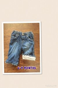 6-9 Month Lined Childrens Place Jeans