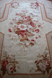 ANTIQUE VINTAGE FRENCH AUBUSSON RUG PALACE SIZE 14' x 10'