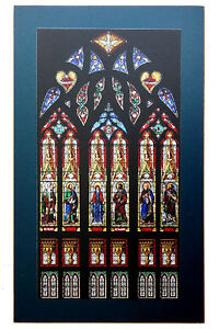Photo laminée de vitrail - Photo of Stained Glass Window