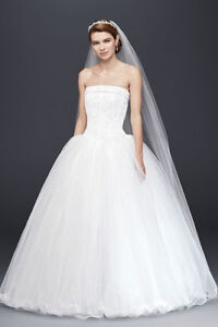 Wedding Dress - Tulle  with Corseted Satin Bodice