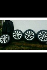 Lexus is220 is250 GS 17 x 4 Alloy wheels like new 114.3 set refurbished 6mm tread 225 50 17 tyres Px