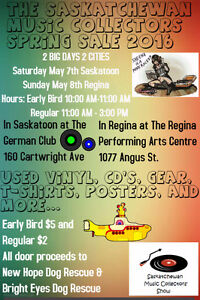 The Saskatchewan Music Collectors 2016 Spring Show And Sale