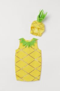 H&M Pineapple Costume Kids Size 6-10Y