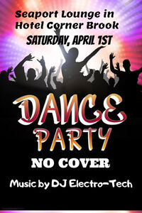 NO COVER Dance Party  at Seaport Lounge in Hotel Corner Brook th