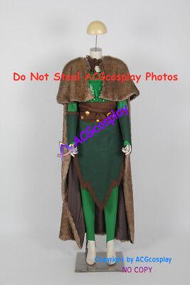 Womens Loki Costume (Female Loki Cosplay Costume with fur)
