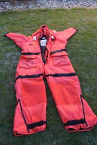 Three Survival Boating Suits