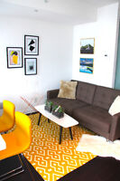 furnished 21st-story 1-bed. apartment @ 8 Mercer St/King/John