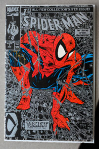 Signed Spiderman Comic (Todd MacFarlane 1990 Torment with stamp)