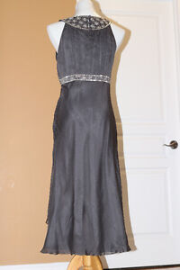 Grey Silver Beaded cocktail dress from Monsoon (UK) fits US 10 Kitchener / Waterloo Kitchener Area image 5
