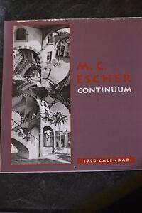 M.C.ESCHER 1996 CALENDAR NEW 12 PRINTS