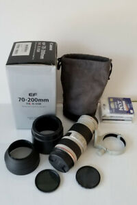 Like new Canon EF 70-200mm F4 L IS USM lens with accessories