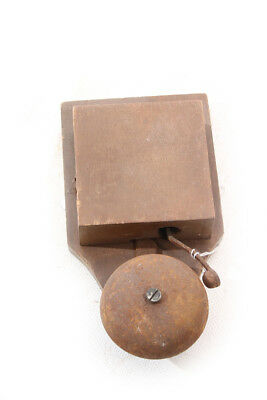 Beautiful Old Door Bell Door Bell Wood Case Vintage 4,5 Volt
