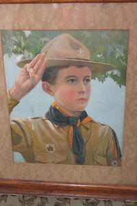"Old Picture ""A Canadian Boy Scout"" 1911 London Ontario image 2"