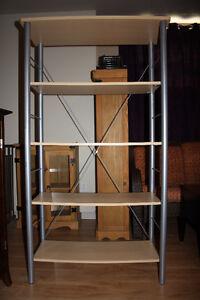 Étagère mélamine et métal / Bookcase