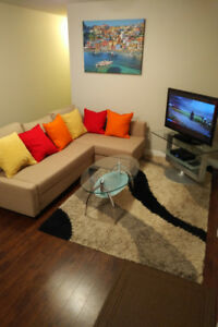 MODERN FURNISHED NEW TWO BEDROOM SUITE (Burquitlam)