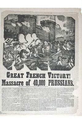Schlacht bei Metz, um 1800 - Originalplakat -selten-