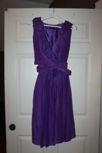 JONES NEW YORK PURPLE WRAP DRESS