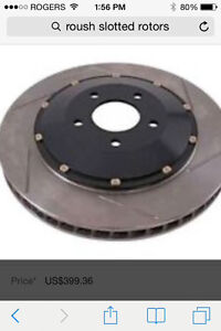 Ford Mustang Roush 2-piece front rotors and pads