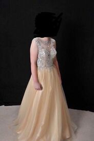 Gorgeous prom dress by illusion prom size 12