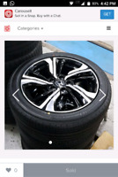 """2017 Honda Civic Wheels 17"""" with Tires 9/10 condition"""