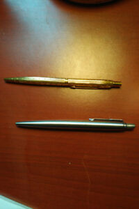 Gold and Steel Parker Jotters for sale