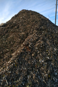 Tree chips mulch