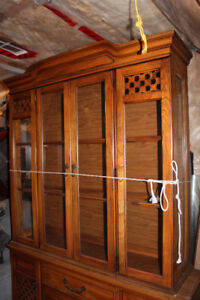 dining table/4 chairs/cabinet/display cabinet