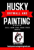Currently offering Interior Painting and drywall repair.