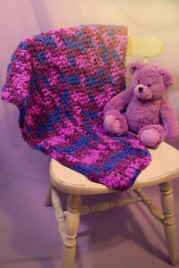 Handmade Chenille baby blanket (crochet) Peterborough Peterborough Area image 1