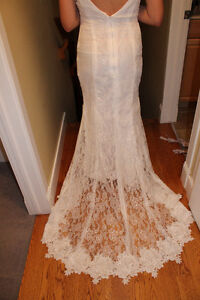 Brand new custom made dress white lace ! Gorgeous!!