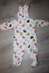 Baby girl bunting snowsuit 9 month
