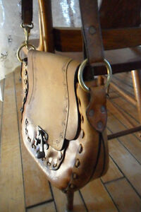 Vintage tooled leather purses