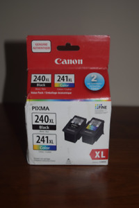Genuine Canon 240XL and 241XL ink cartridges